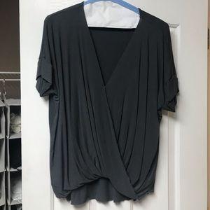 Double Zero Tops - Double Zero Gray Twist Top-worn once & dry cleaned